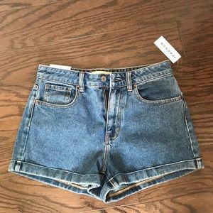 Pacsun medium wash vintage high rise shorts